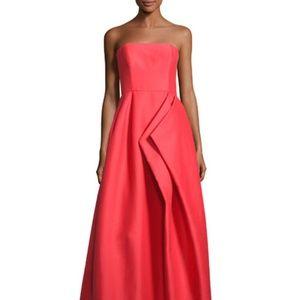 Halston Heritage Strapless Silk Faille Gown NWT
